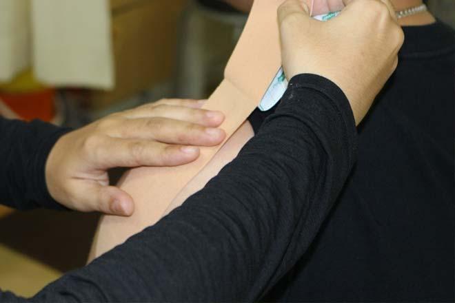 スポーツでの怪我の応急処置体験